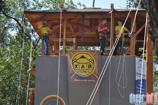 Днепропетровцев ожидают в «Башне приключений» и на спортплощадке