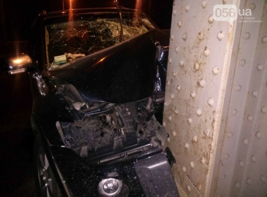 В Днепропетровске на Амурском мосту произошла авария
