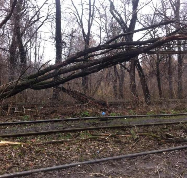 В Днепропетровске на маршруте шестого трамвая произошло ЧП
