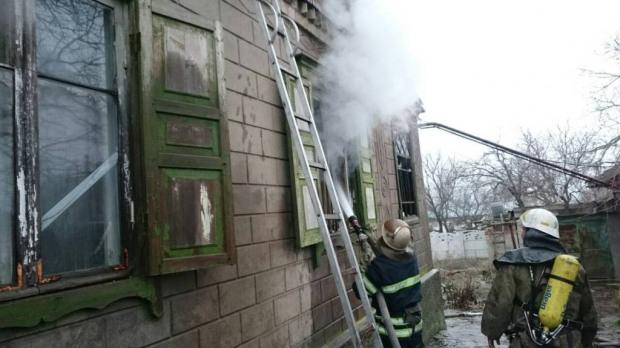 В Каменском на месте пожара обнаружили труп мужчины