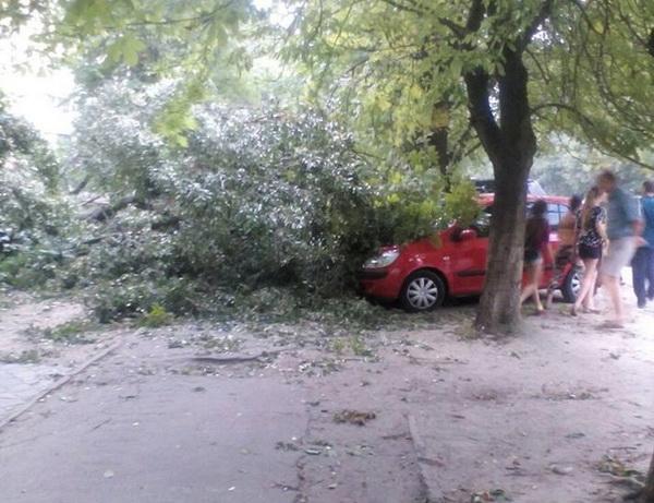 Ураган в Днепре срывал крыши и валил деревья