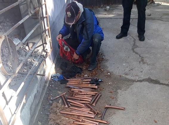Днепровская полиция выслеживала вора металла