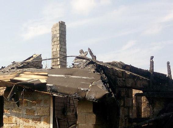 Отключенный от газа, сгорел дом главы «Правого сектора» на Днепропетровщине