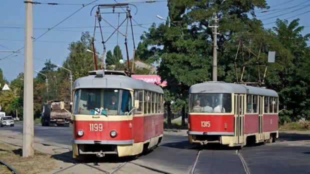 Трамваи маршрута № 1 в Днепре изменят движение