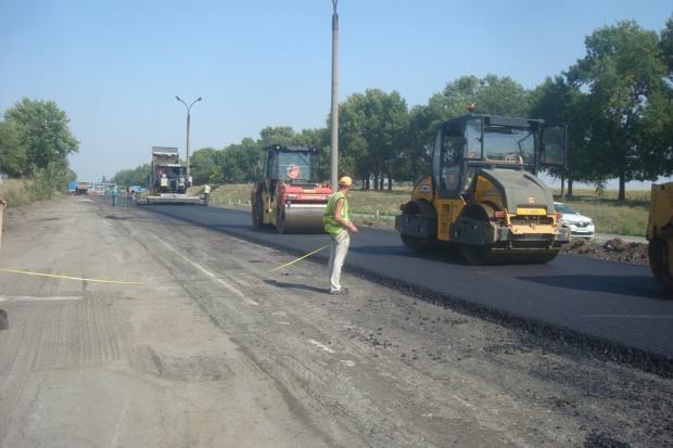 В Службе автодорог сообщили, где на Днепропетровщине продолжается ремонт дорог