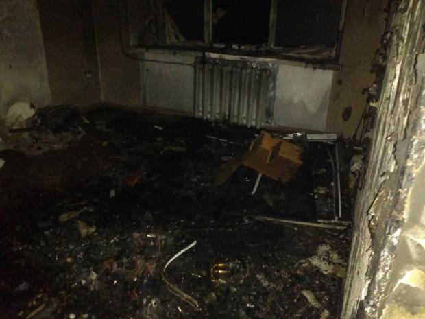 Ночью в Желтых Водах горела квартира