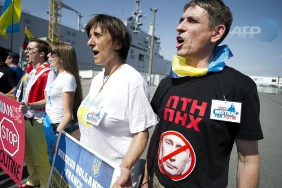 Во Франции митинговали против отправки «Мистралей» в Россию