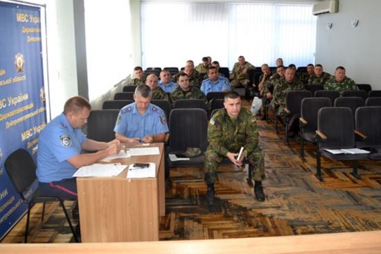 На Днепропетровщине сформирован новый отряд сотрудников ГАИ для ротации в зоне АТО