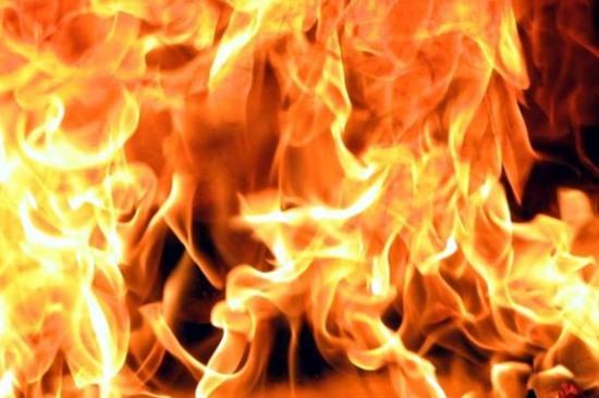 В Днепропетровске горел цех по изготовлению обуви