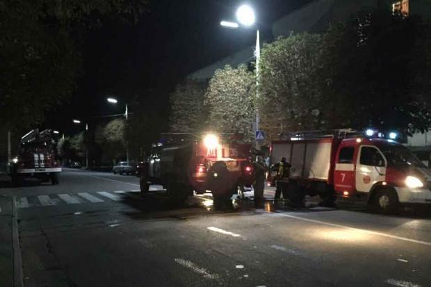 В Каменском тушили пожар в университете