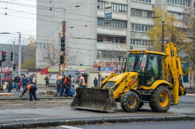 В Днепропетровске продолжается благоустройство улицы Рабочей