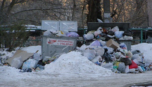Жители Днепропетровска стали накапливать больше мусора