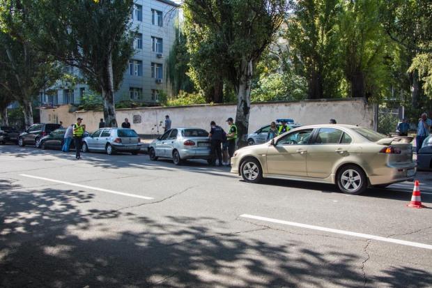 В Днепре столкнулось сразу 5 машин