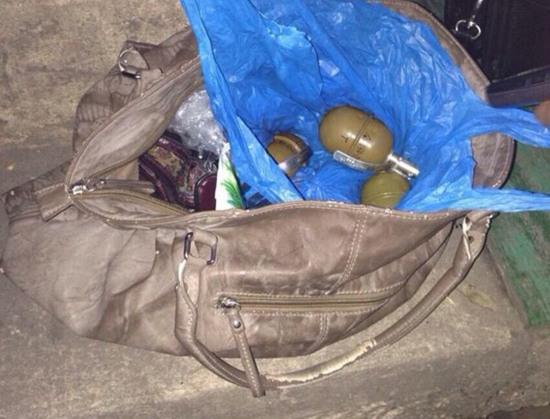 Жительница Днепропетровска в сумочке носила гранаты