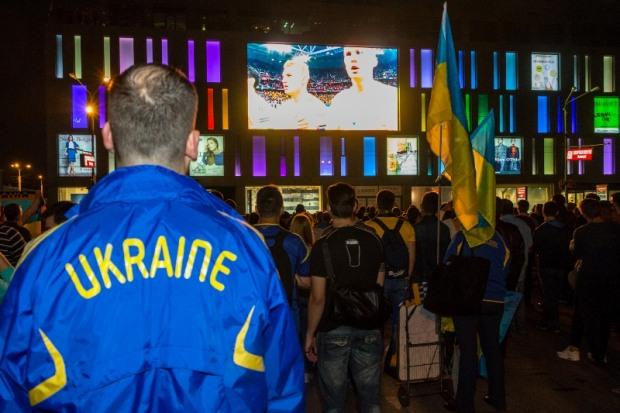 Днепровцев зазывают смотреть матчи сборной Украины на площади