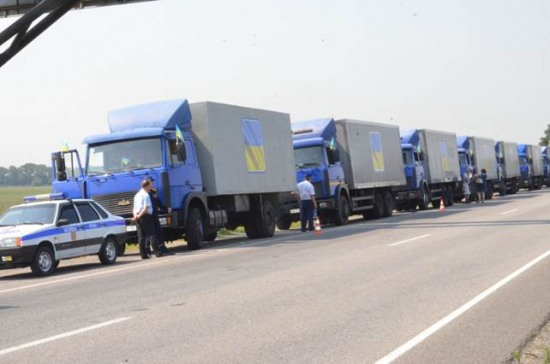 В Луганскую область выехала колонна со 170 тоннами помощи