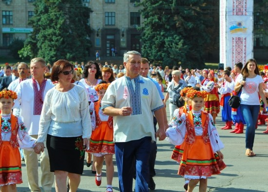 На День города в Днепропетровске царил национальный колорит