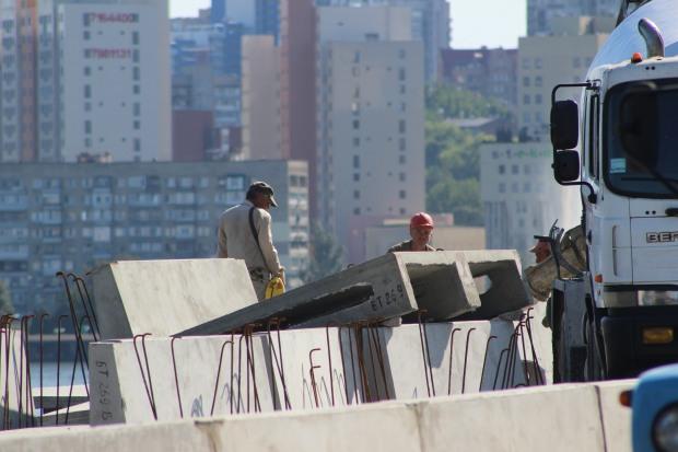 Как в Днепре Новый мост реконструируют