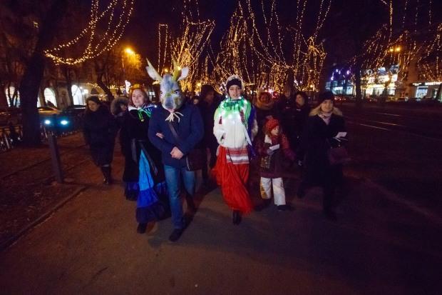 Под Старый Новый год в Днепре состоялся костюмированный флешмоб