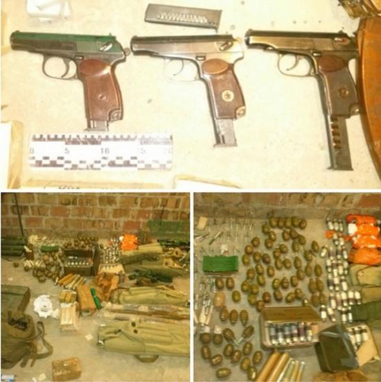 Задержанный днепропетровец хранил оружие в своём гараже