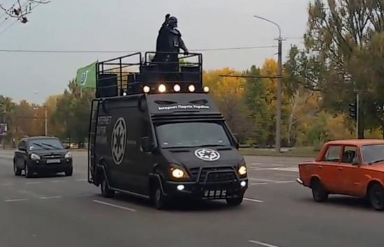 По Днепропетровску катался Дарт Вейдер