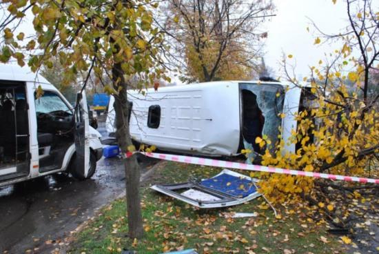 В Кривом Роге произошло серьезное ДТП с участием автобусов