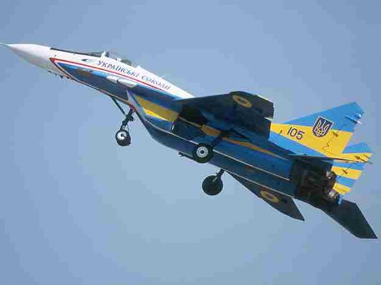 Над Днепропетровском летают истребители
