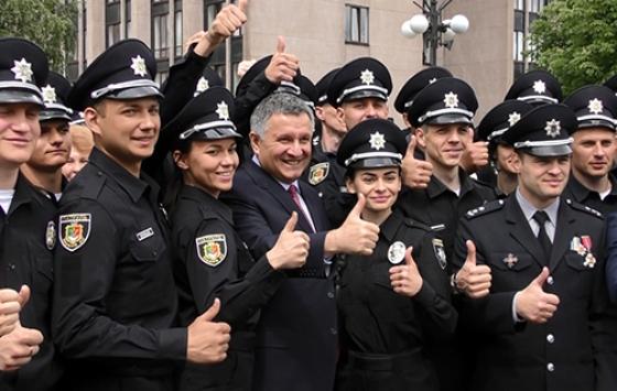 Кривой Рог знакомят с новой армией полицейских