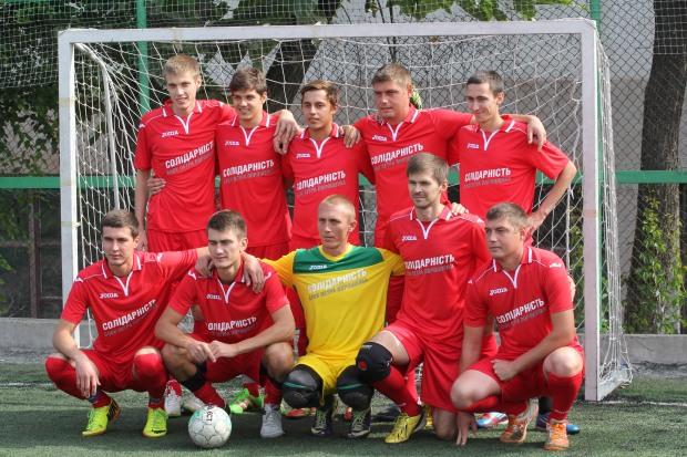 В Днепре сыграли футбольные команды молодежных организаций БПП из трех областей