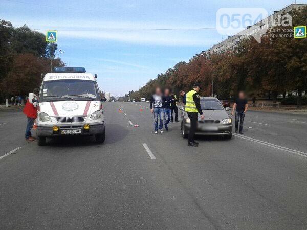 В Кривом Роге на пешеходном переходе Daewoo Lanos сбил женщину