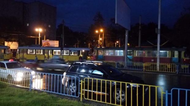 Вчера вечером в Днепре столкнулись два трамвая