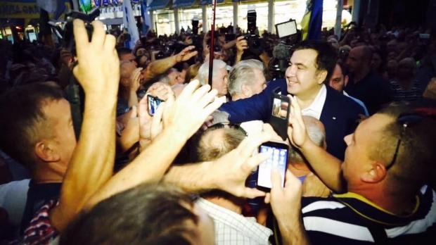 Как Днепр встретил Михаила Саакашвили