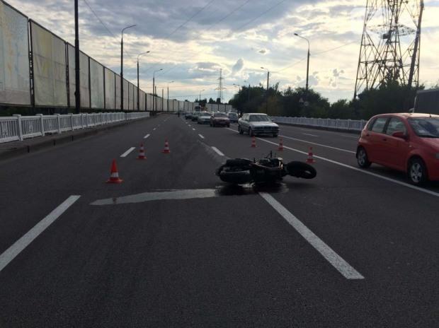 На Набережной-Заводской произошло ДТП с участием мотоциклиста