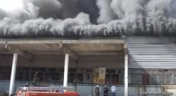 В Днепре полиция инсценировала масштабной поджог