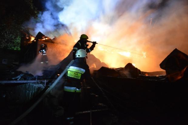 В Днепре ночью горел ресторан «Карпаты»