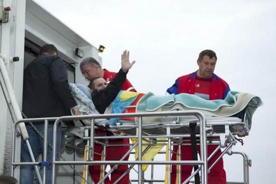 На лечение в Эстонию из Днепропетровска направили 10 раненых солдат