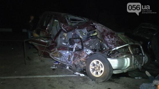 Вчера на Днепропетровщине произошло ДТП с участием трёх автомобилей
