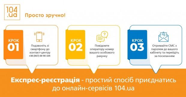 Для потребителей АО «Днепропетровскгаз» разработали экспресс-регистрацию на сайте 104.ua