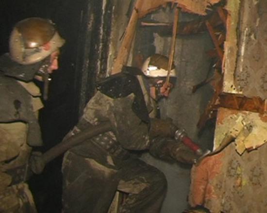 На Днепропетровщине горел многоквартирный дом