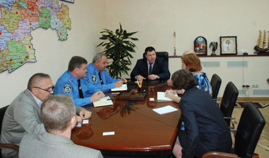 Руководство днепропетровской милиции встретилось с представителями ОБСЕ