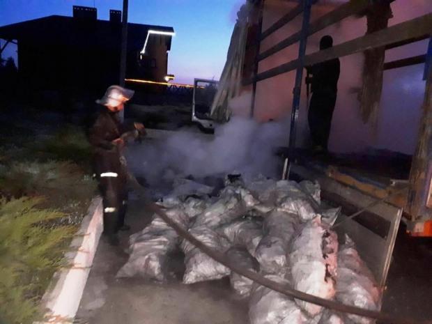 В Днепропетровской области в грузовом автомобиле произошло возгорание
