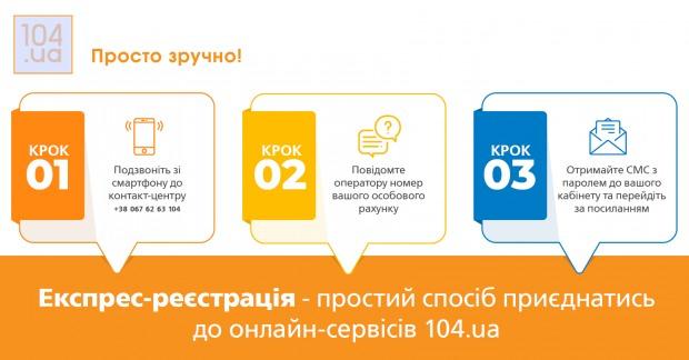 """""""Дніпрогаз"""" запровадив експрес-реєстрацію клієнтів на сайті 104.ua"""