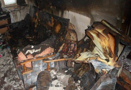 В Кривом Роге при пожаре погиб мужчина