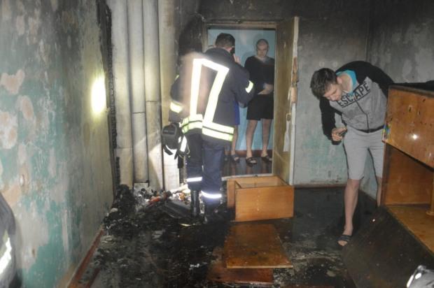 В Днепре горело общежитие