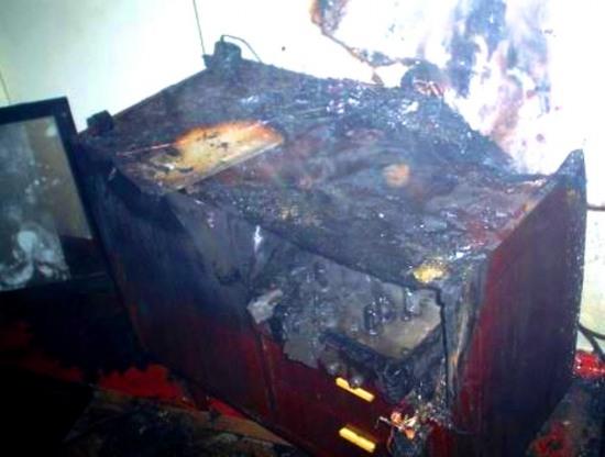 На Днепропетровщине горела пятиэтажка
