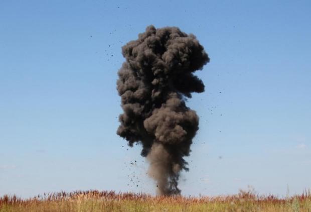 За сутки в 4 районах Днепропетровщины взрывали мины и снаряды