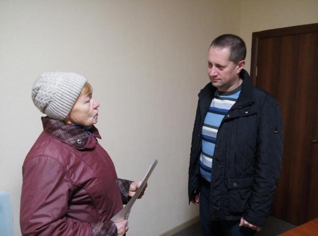 Подяка депутату  Кам'янської міської ради від ВО «Батьківщина» Сергію Миршавці  від  виборців