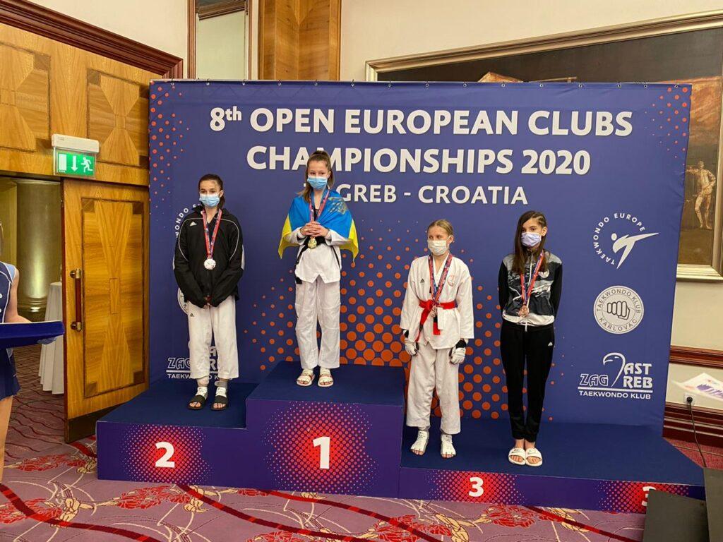 Із золотом та бронзою: спортсмени Дніпропетровщини здобули три медалі європейської першості з тхеквондо ВТФ