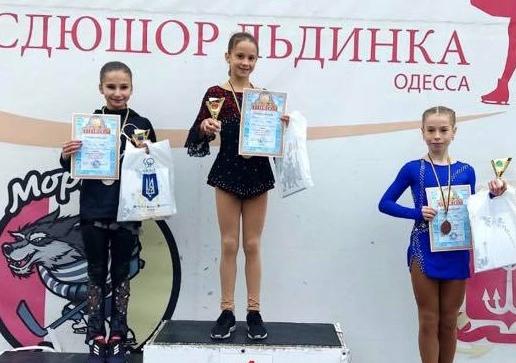 Дніпровські фігуристки стали призерами Всеукраїнських змагань в Одесі