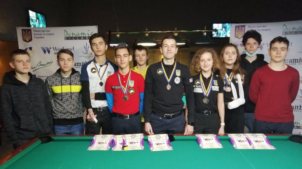 Спортсмени з Дніпра здобули золото та бронзу чемпіонату України з більярду
